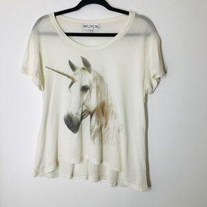 Wildfox Small Unicorn Tshirt